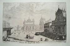 Rom Roma Piazza di Spagna Italien italia  Küsell nach J. Baur  Kupferstich  1682