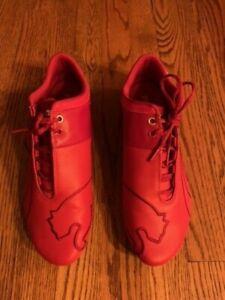 Men's size 10.5 Puma Eco OrthoLite Ferrari Scuderia Racing Shoes