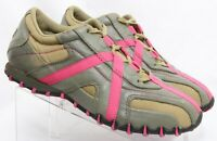 Diesel Shoes Cracker Pink Olive Athletic Lace Up Sneaker Womens US 8 EU 38.5