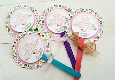 LOLLY POP STYLE BIRTHDAY PARTY INVITATIONS, SEWING PARTY THEME, PERSONALISED 6 P