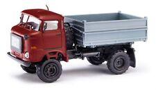 BUSCH 95138 - 1/87 / H0 IFA W50 LA 2-SEITENKIPPER - 75000 / WEINROT - NEU