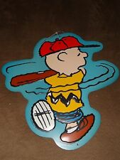 Peanuts Charlie Brown Baseball Tin Metal Sign-New