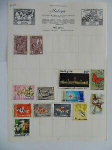PA 409 - Page Of Mixed Malaya Stamps
