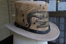 Top Hat, Steampunk, Goth, Grunge, Genuine Leather