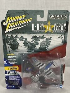 Johnny Lightning D-Day 75 Years 6 WWII North American P-51D Mustang Ver A