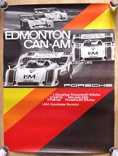 """1 orginal Porsche Plakat Renn Poster """" Edmonton CAN-AM 1972 """" Porsche 917"""