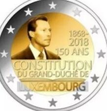 Luxembourg 2 Euro Coin 2018 Commemorative 150y Constitution New UNC From Roll