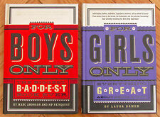 Lot 2 FOR GIRLS ONLY & FOR BOYS ONLY Books Laura Dower & Marc Aronson HB L1