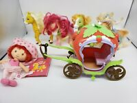 STRAWBERRY SHORTCAKE Horses and carriage lot doll