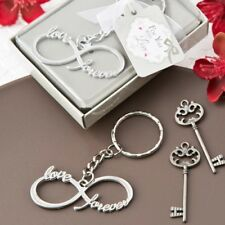 75 Silver Metal Infinity Love & Forever Key Chain Wedding Shower Gift Favors