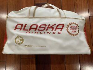 1960's VINTAGE ALASKA AIRLINES FLIGHT /. TRAVEL BAG