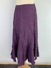 Purple Per Una Skirt Size 14/16L Maxi Flare Panel Applique