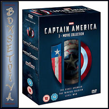 CAPTAIN AMERICA - MARVEL 3 MOVIE COLLECTION   *BRAND NEW DVD BOXSET**