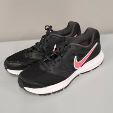 Nike black running Athletic shoes women's size 8.5 Pink Logo