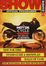 Motor Cycle Show Official Programme 1991 - NEC Birmingham,New Bikes,Stand Guide