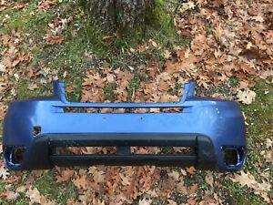 2014-2015-2016 SUBARU FORESTER FRONT BUMPER COVER OEM USED QUARTZ BLUE PEARL J8U