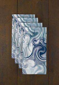 "Blue Swirls 18"" x 18"" Napkins 1 Dozen"
