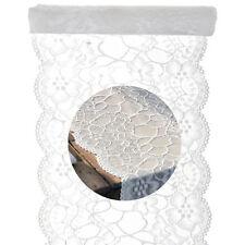 Tischläufer weiß Spitzen Rund Tischband Dekostoff Hochzeit Banner Tischdeko
