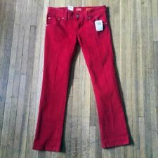 NWT Size 7 Dickies Girl Cherry Red Denim Jeans Lowrise Skinny Style MS193RD New
