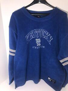 Vintage NCAA Kentucky Wildcats Team Starter Fleece Pullover Sweatshirt Large