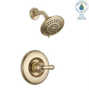 Delta T14294-CZ Linden 1-Handle 5-Spray Shower Faucet Trim Kit, Champagne Bronze