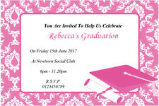 10 Personalised  Female Graduation Party Invitations