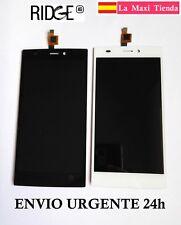 "Pantalla Completa ""Wiko Ridge 4G"" Negra Blanca (LCD + Tactil) Cristal Display"