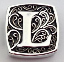 Authentic Lori Bonn Bons 925 Silver L Is for Ladylike Slide Charm 29920xl, New