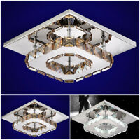 12W Modern LED Flush Ceiling Light Pendant Lighting Crystal Chandelier Lamp Home