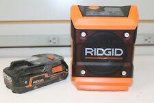 Ridgid R84086 18V Cordless Mini Bluetooth Radio w/Battery.