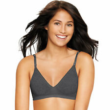 306b6283a 2 Hanes Ultimate Comfy Support ComfortFlex Fit Wirefree Bras HU11 S Gravel  Grey Heather