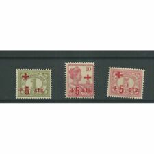 Ned. Indie 135-137 Rode Kruis  MNH/postfris  CV  60 € LUXE !!