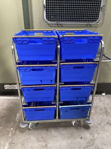 Warehouse stock trolley/picking trolley