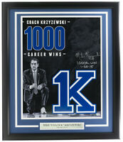Coach Mike Krzyewski Signed Framed 16x20 Blue Devils Photo 1000th Win Fanatics