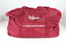 Vintage 80s Igloo Spell Out Nylon Handled Weekender Duffel Travel Bag Maroon