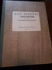 (Ungaretti, Giuseppe) Shakespeare, William. XXII Sonetti di Shakespeare