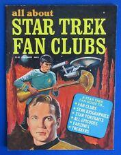 1976 STAR TREK FAN CLUBS Magazine #1 VG/FN 5.0 fan clubs, biographies, portraits