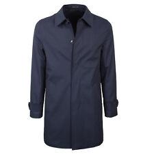 Giubbotto Uomo Elegante Giubbino Invernale Slim Fit Giaccone Blu Cappotto Casual