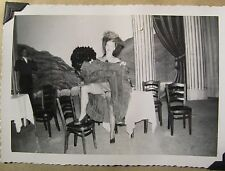 vintage 1950's photo  girl on stage in play upskirt