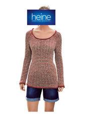 Heine - Best Connections Bändchengarn-pullover Rot-beige 34