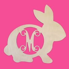 Bunny Design Wood Monogram