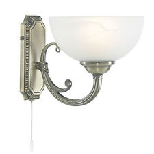 Searchlight 3771-1ab Windsor 1 Light Wall Bracket Antique Brass & Glass