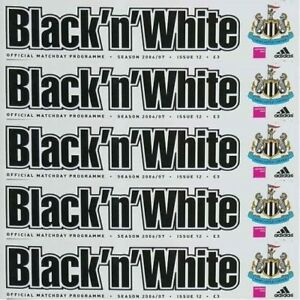 Programme Newcastle United Football St Jame's Park Home Games 2007 2008 Various