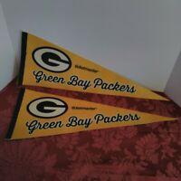NFL Green Bay Packers Vintage SGA Ticketmaster Lot of 2 Logo Football Pennants