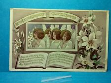 """1900'S RELIGIOUS """"MAY EASTER SUNLIGHT GLADDEN YOU"""" POST CARD     (16R1656)"""