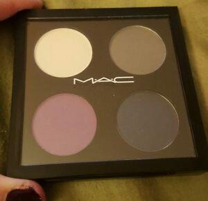MAC Eyeshadow Quad ~HOLD MY GAZE~LE Rare-Lilac Blue Matte & Shimmer GLOBAL SHIP