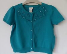 Immaculate Monsoon Emerald Green Short-Sleeved Cardigan Size 5-6 yrs, Worn Once!