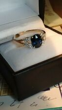 Sapphire and Diamond 18k Gold Ring