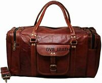 Bag Leather Overnight Men Travel Gym Duffel Vintage Luggage Weekend Genuine S