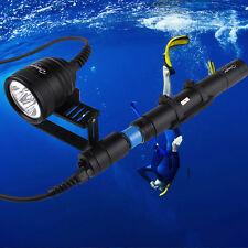 Brinyte 3000LM XML-U2 3 LEDs Underwater 150M Scuba Diving Flashlight Torch Light